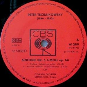 画像2: 独CBS セル/チャイコフスキー 交響曲第5番