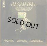英CBS アイヴズ/交響曲全集 バーンスタイン,オーマンディ,ストコフスキー 4LP