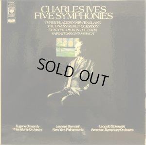 画像1: 英CBS アイヴズ/交響曲全集 バーンスタイン,オーマンディ,ストコフスキー 4LP