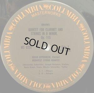 画像2: 米COLUMBIA ブダペスト弦楽四重奏団/ブラームス クラリネット五重奏曲