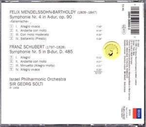 画像2: [中古CD] 独DECCA ショルティ/メンデルスゾーン「イタリア」, シューベルト 交響曲第5番