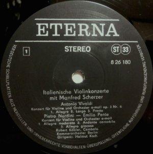 画像2: 東独ETERNA マンフレッド・シェルツァー/イタリアのヴァイオリン協奏曲集
