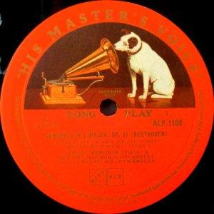 画像2: 英HMV フルトヴェングラー&メニューイン/ベートーヴェン ヴァイオリン協奏曲