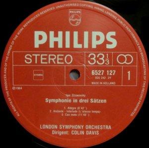 画像2: 蘭PHILIPS C.デイヴィス/ストラヴィンスキー 3楽章の交響曲, 交響曲ハ調